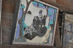 小川天香が諏訪神社上社に奉納した鏝絵。